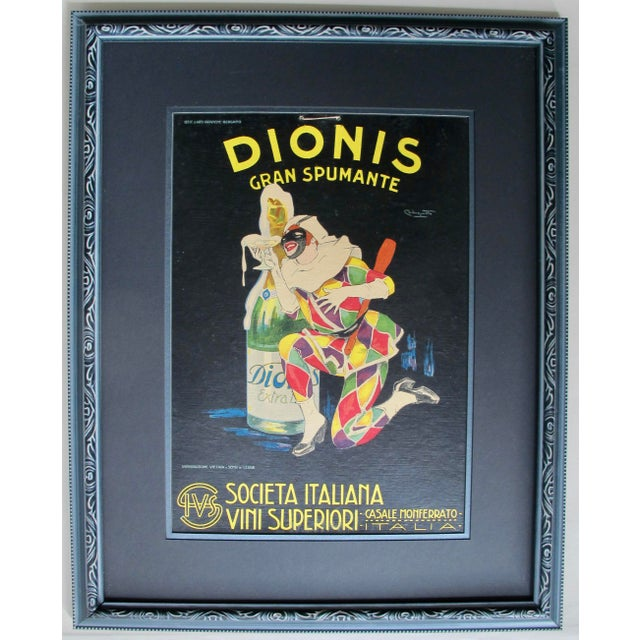 Glass Framed Italian Art Deco Spumante Advertisement, 1920's For Sale - Image 7 of 7