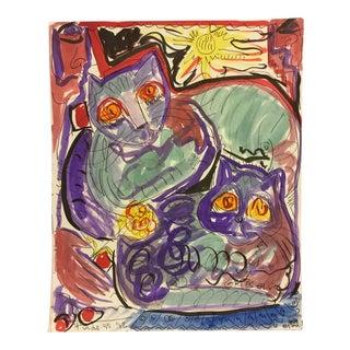 Vitae Fradogo Gatos #18 Art Miami 1993 For Sale