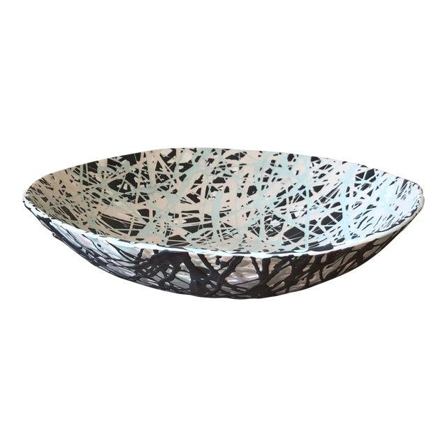 Scandinavian Pollack Style Ceramic Bowl For Sale