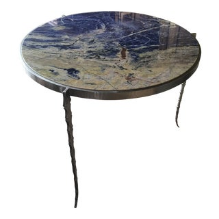 Boho Chic Lapis Entry Table For Sale