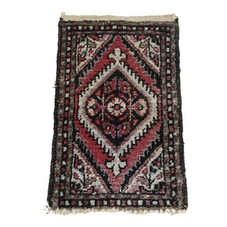 1920s Vintage Small Handwoven Wool Rug - 1′3″ × 2′ For Sale