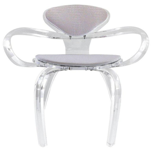 Custom-Made Lucite Pretzel Chair Inspired by the Norman Cherner Classic For Sale - Image 11 of 11