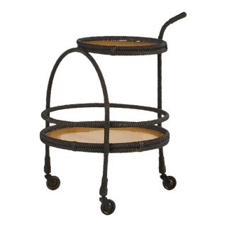 French Bar Cart by Adrien Audoux and Frida Minet For Sale