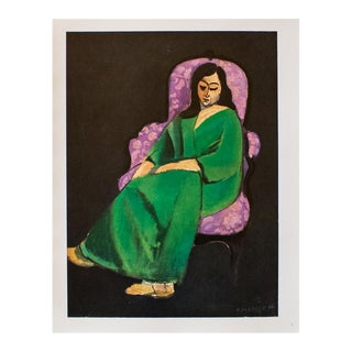 "1940s Henri Matisse, ""Woman at the Chair"" Original Period Swiss Lithograph For Sale"