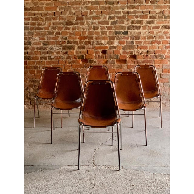 Les Arcs Dining Chairs Leather, 1960s - Set of 6 For Sale - Image 4 of 13