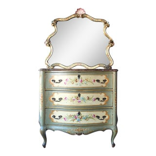 Vintage Venetian Dresser and Mirror Set For Sale