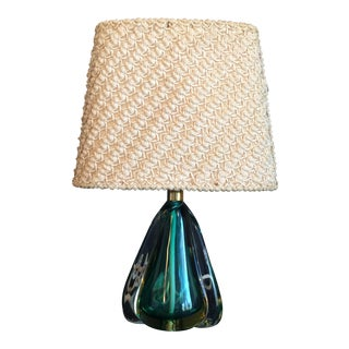 1950's Daum Cristal Table Lamp W/ Original Shade For Sale