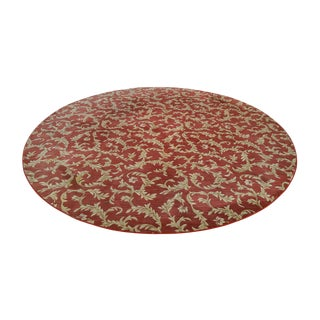 "Nourison Hamilton House Collection 114"" Round Red & Gold Rug For Sale"