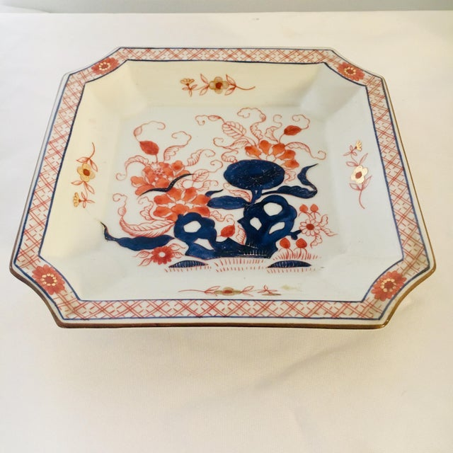 """Beautiful Japanese Imari dish with gold accents. Dimensions: 8"""" x 8"""" x 1.25"""""""