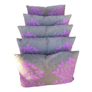 Contemporary B&b Italia Canasta Custom Indoor-Outdoor Pillows - Set of 5 For Sale