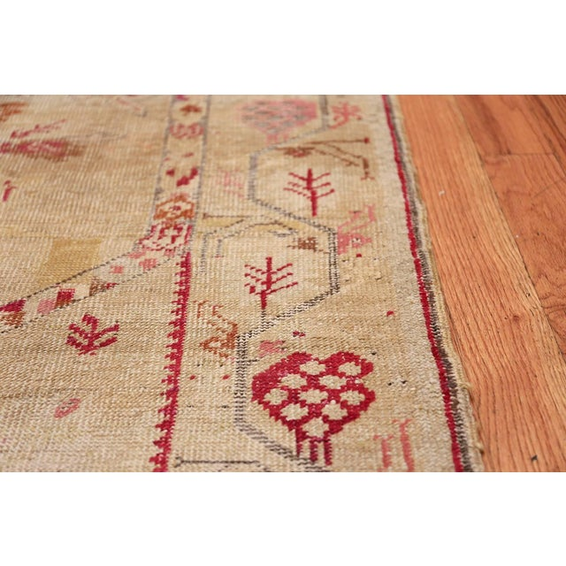 Pink Antique Shabby Chic Tribal Turkish Ghiordes Rug - 3′5″ × 6′6″ For Sale - Image 8 of 10