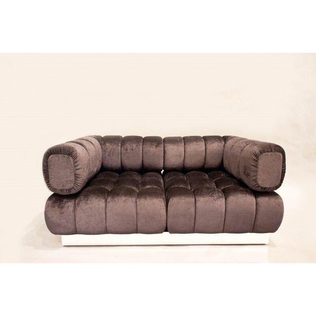 Metal 2015 USA Todd Merrill Custom Original The Extended Back Tufted Sectional For Sale - Image 7 of 11
