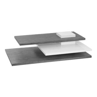 Planar Coffee Table, White/Grey For Sale
