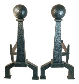 Image of Arts and Crafts Andirons and Chenets