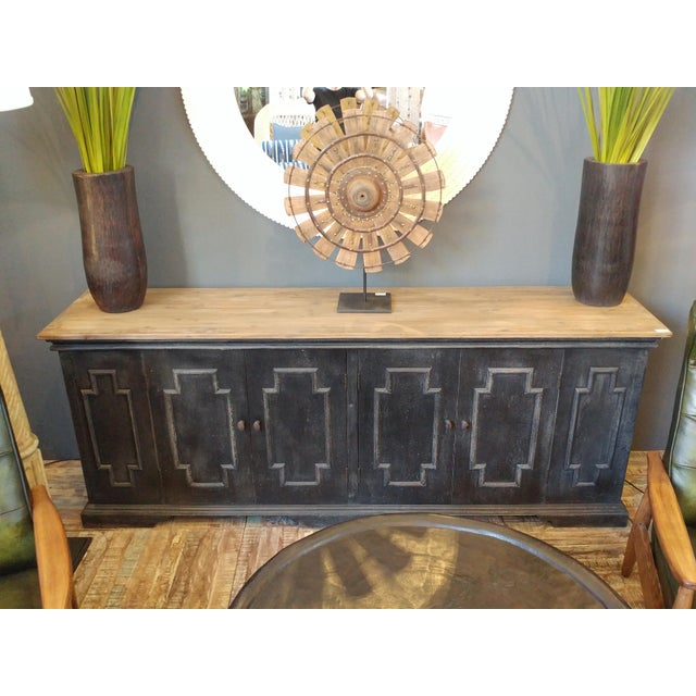 Wood Salvaged Black & Tan Sideboard For Sale - Image 7 of 10