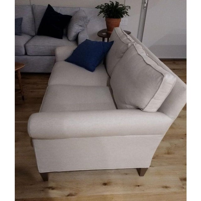 Contemporary Crate & Barrel Montclair Loveseat For Sale - Image 3 of 4