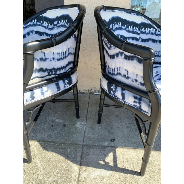 Mid 20th Century Mid-Century Faux Bamboo Side Chairs - a Pair For Sale - Image 5 of 10