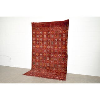 "Vintage Moroccan Boujad Wool Floor Rug - 6'9"" x 10'5"" Preview"
