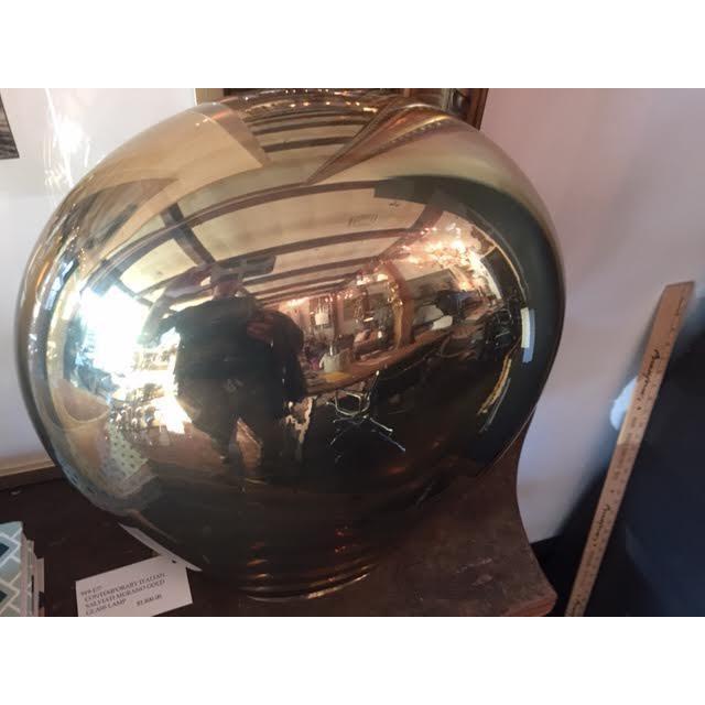 Contemporary Italian Salviati Murano Gold Glass Lamp For Sale - Image 4 of 7