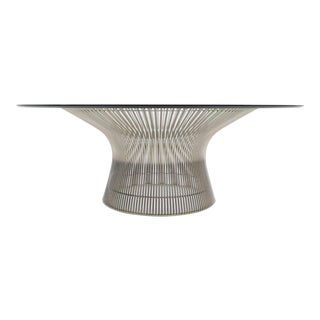 1980s Warren Platner for Knoll Nickel Plated Cocktail Table For Sale