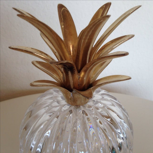 Vintage Glass and Brass Pineapple - Image 4 of 6