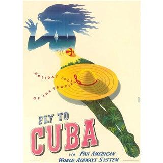 Framed Cuba Travel Poster