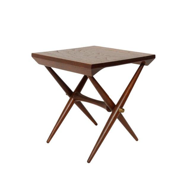 1960s Danish Modern Jens Quistgaard Teak Side Table For Sale
