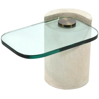 "Karl Springer ""Sculpture Table"" in Sandstone For Sale"