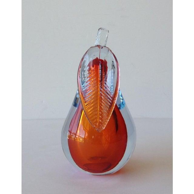 Alfredo Barbini Hand-Blown Murano Pear Bookend - Image 8 of 10