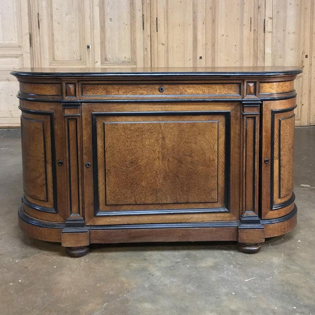 19th Century French Napoleon III Period Walnut Buffet For Sale - Image 13 of 13