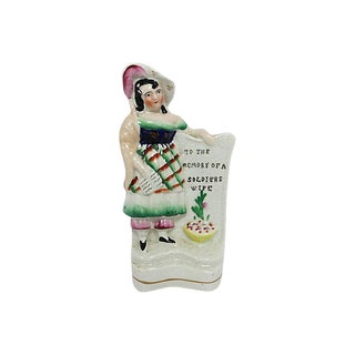 Antique English Staffordshire Soldier's Wife For Sale