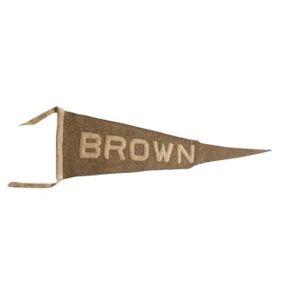 Antique Brown University Felt Flag Pennant