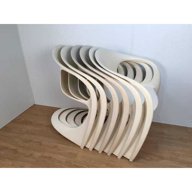 White Off White Steen Ostergaard Chairs - Set of 6 For Sale - Image 8 of 8