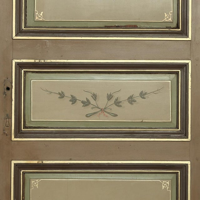 Pair 19th Century French Hand Painted Paneled Interior Doors For Sale - Image 10 of 13