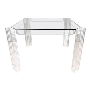 Charles Hollis Jones Lucite & Glass Dining Table
