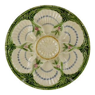 Charlionais Et Pourailly Cie. French Faïence Majolica Oyster Plate