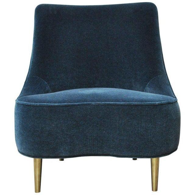 "Brass Dunbar ""Teardrop"" Chair by Edward Wormley For Sale - Image 7 of 7"