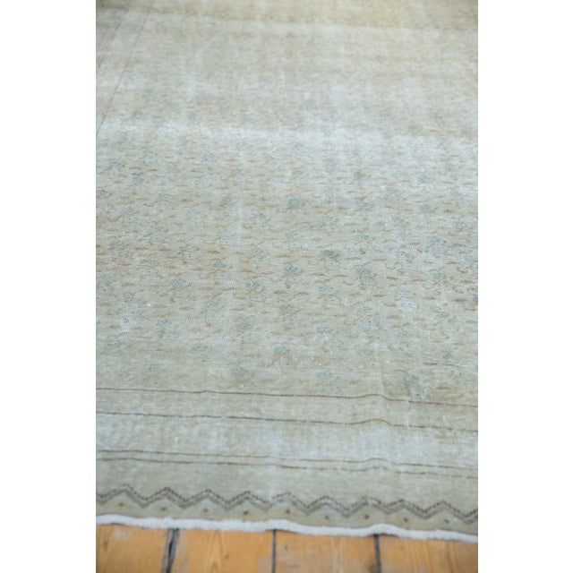 "Old New House Vintage Distressed Kayseri Carpet - 6'6"" X 9'4"" For Sale - Image 4 of 13"