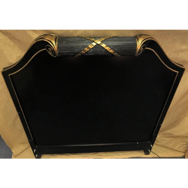 Vintage Art Deco Twin Headboard With Light For Sale - Image 11 of 13