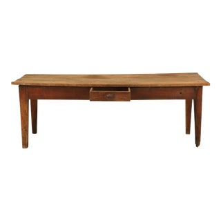Antique French Cherrywood Farm Table For Sale