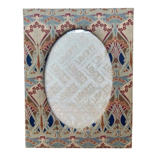 Vintage Liberty of London Silk Twill Art Nouveau Print Picture Frame For Sale