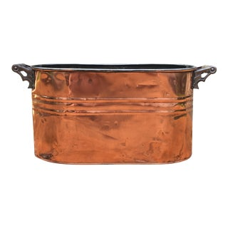 1930s Vintage Copper Planter For Sale