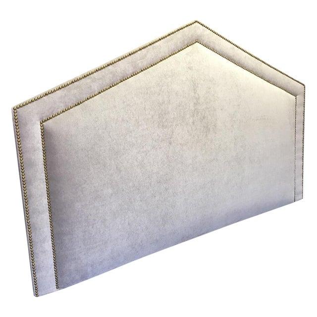 King Size Grey Upholstered Headboard - Image 1 of 6