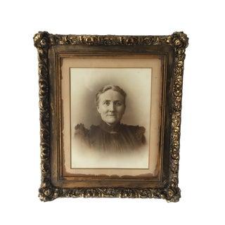 Victorian Matriarch Portrait Plaster Framed 26x31 For Sale