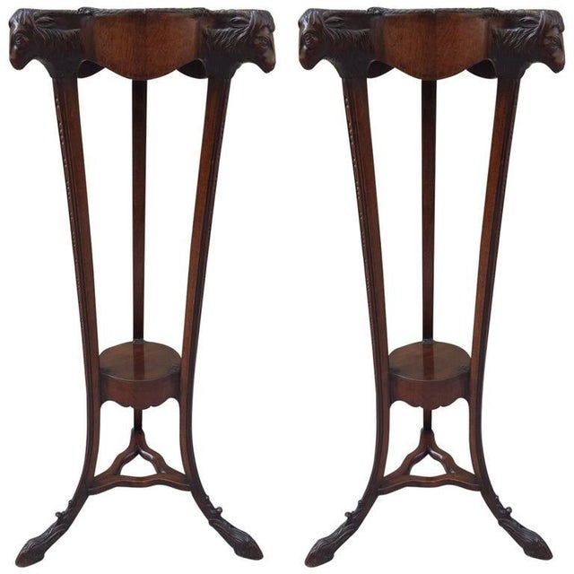 Pair of 18th Century Georgian Mahogany Pedestals For Sale - Image 9 of 9