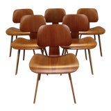 Image of Herman Miller Eames Molded Plywood Dining Chairs - Set of 6 For Sale