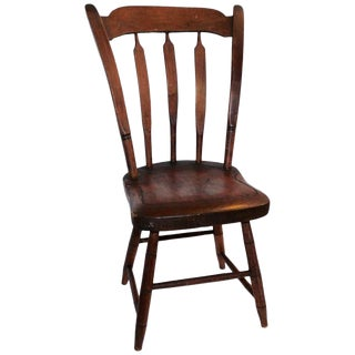 Amazing Early 19th Century Child's Thumbtack/Arrowback Windsor Chair For Sale