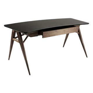 Roos Walnut Desk by Atra For Sale