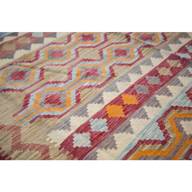 "Contemporary Kilim Carpet - 7'10"" x 9'6"" For Sale - Image 5 of 6"