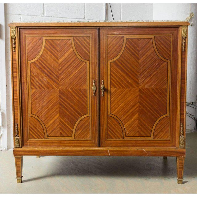 French French Cabinet With Marble Top For Sale - Image 3 of 12
